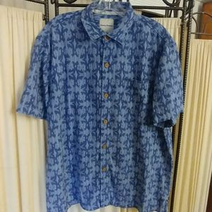 Mens L Tommy Bahama S/S Button Down